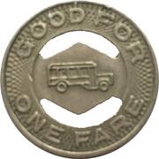 1 Fare - Williamsport Trans. Co. (Williamsport, Pennsylvania) – reverse