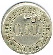 50 Centimes - Société de consommation de l'Est (Chalons) – obverse