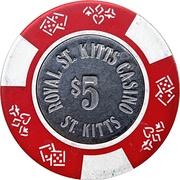 5 Dollars - Royal St. Kitts Casino – reverse