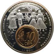 Token - European Currency (Estonia - 10 Euro Cent) – obverse