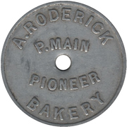 1 Loaf - A. Roderick Pioneer Bakery (Pelaw Main, New South Wales) – obverse