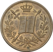 Token - Coronation of Willem III – obverse