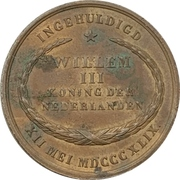 Token - Coronation of Willem III – reverse