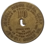 10 Cents - Jewell Ridge Coal Corp. (Jewell Ridge, Virginia) – obverse