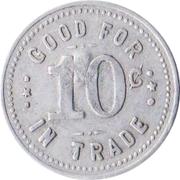 10 Cents - Havlicek & Vecera General Merchandise (Verdigre, Nebraska) – reverse