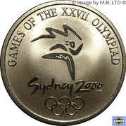Subscriber Medal - Sydney 2000 Olympics $5 Coin Series -  obverse