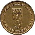 Token - Belgian committee for Olympics 1978 – reverse