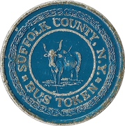 1 Bus Fare Token (Hauppauge, Suffolk County, New York) – obverse