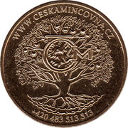 Czech Mint advertising token – reverse