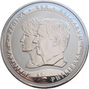 Token - Philippus and Mathilde (15th Anniversary of marriage) – obverse