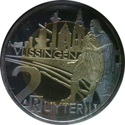 2 Ruyter - Vlissingen (400th Anniversary Michiel de Ruyter) – reverse