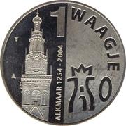 1 Waagje - Alkmaar (750th anniversary) – reverse