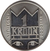 1 Kroon - Nijmegen (2000th anniversary) – obverse