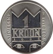 """1 Kroon - Nijmegen (2000th anniversary; """"Mariken van Nieumeghen"""") – reverse"""