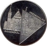 1 Blufje - Den Haag (Culture Year in The Hague - Ridderzaal / Vredespaleis) – obverse