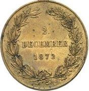 Token - Franz Joseph I (2nd of December 1873) – reverse