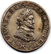 Token Collection BP - Le Trésor des Rois de France (№17 - Henri IV ½ Franc) – obverse