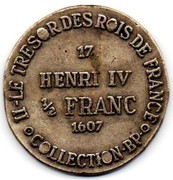 Token Collection BP - Le Trésor des Rois de France (№17 - Henri IV ½ Franc) – reverse