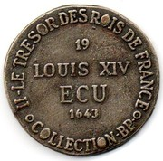 Token Collection BP - Le Trésor des Rois de France (№19 - Louis XIV) – reverse