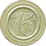 75 Centimes (Tiger) – reverse