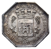 Token trade brokers of the city of Bordeaux – obverse