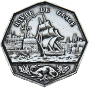 Token - Chamber of commerce Le Havre – reverse