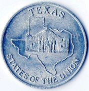 Token - Shell's States of the Union Coin Game, Version 2 (Texas / Louisiana) – obverse