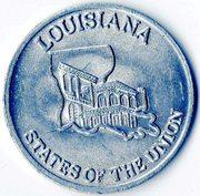 Token - Shell's States of the Union Coin Game, Version 2 (Texas / Louisiana) – reverse