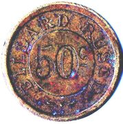 50 Centimes - Billard Russe – reverse