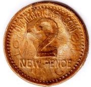 2 New Pence - Toytown Cash (Decimal Token Coin) – reverse