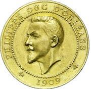 Module de 10 Centimes pour Philippe Duc d'Orleans 1909 – obverse