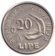 0.20 Lipe (Lipa Holding, Ljubljana Series) – reverse