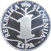 1 Lipa (France Preseren - Lipa Holding, Ljubljana Series) – obverse