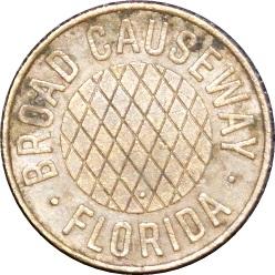 Broad Causeway FL60A Bay Harbor, Florida transit token