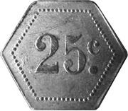 25 Centimes - Jeton à consommer - sans indication – obverse