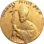 Pope John Paul II - Visit to India – obverse