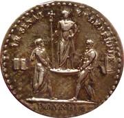 Quinaire du sacre de l'empereur (Premier Empire) – reverse