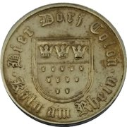 Beer Token - 50 Bier-Dorf Colon – reverse