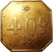 40 Centimes – reverse