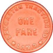 1 Fare - Lancaster Traction Co. (Lancaster, Ohio) – reverse