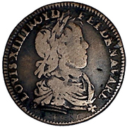 Token -  Louis XIV (Council of the King; type LOVIS) – obverse