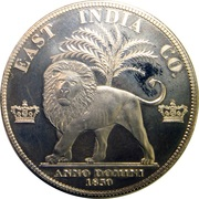 East India Company Fantasy Token – reverse