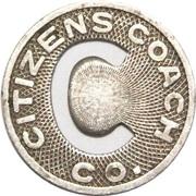 1 Fare - Citizens Coach Co. (Little Rock, Arkansas) – obverse
