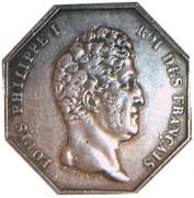 Jeton Louis-Philippe Ier Notaires de Paris – obverse