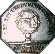 Jeton Louis-Philippe Ier Notaires de Paris – reverse