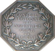 Jeton octogonal Notaires de Douai – reverse