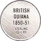 Token - Demerara Guiana 1851 – reverse