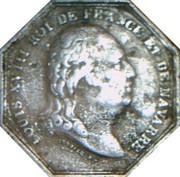 Jeton octogonal Louis XVIII Chambre de commerce de Dieppe – obverse