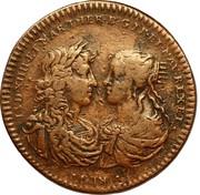 Louis XIV & Marie-Thérèse d'Autriche - Entrée du Légat à Paris – obverse