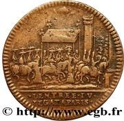 Louis XIV & Marie-Thérèse d'Autriche - Entrée du Légat à Paris – reverse